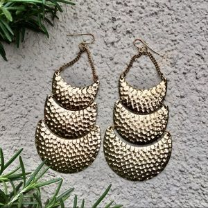 Urban Outfitters Gold Retro vintage earrings geo
